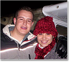Happy Holiday Flyers - Carlos and Natacha